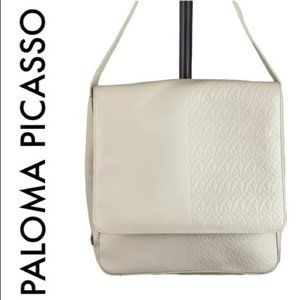 PALOMA PICASSO CREAM LEATHER CROSSBODY